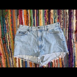 Women's High Waisted Vintage Jean Shorts